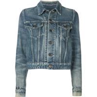 Saint Laurent Jaqueta Jeans Clássica - Azul