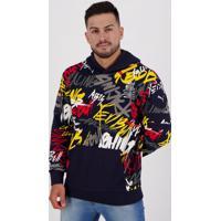 Moletom Puma Red Bull Racing Street Midlayer Marinho