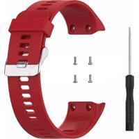 Pulseira De Silicone Tudo Smartwatch Para Garmin Forerunner 35 Vermelho