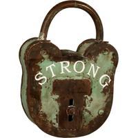 Porta-Chaves Cadeado De Metal Strong