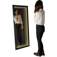 Espelho Decorativo Infinito 60X150 Cm Preto
