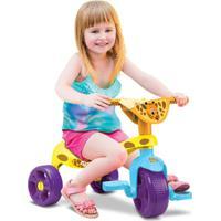 Triciclo Motoca Zoo Samba Toys Com Haste Multicolor