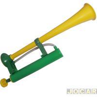 Buzina Corneta - Jumbinho 44Cm-Amarela/Verde - Cada (Unidade)