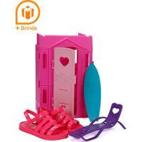 Sandália Barbie Infantil Para Menina - Rosa