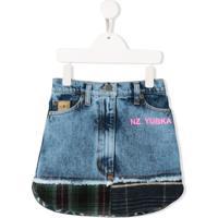 Natasha Zinko Kids Minissaia Jeans - Azul