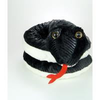 Cobra De Pelúcia Preta