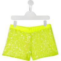 Pinko Kids Short Com Paetês - Amarelo
