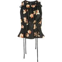 Proenza Schouler Blusa Jacquard Floral - Preto