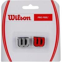 Antivibrador Wilson Pro Feel Vermelho E Prata - Unissex