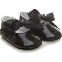 Sapato Infantil Bebê Polo Ralph Lauren Briley Black Verniz Liso Preto