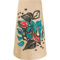 Marni Printed Mid-Length Skirt - Neutro