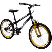 Bicicleta Aro 20 Garra Flash Suspensão Bmx Preto
