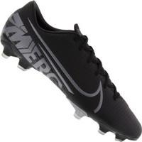 Chuteira De Campo Nike Mercurial Vapor 13 Academy Fg/Mg - Adulto - Preto/Cinza