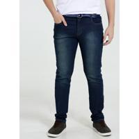 Calça Juvenil Jeans Reta Cinto Marisa