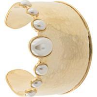 Aurelie Bidermann Bracelete Com Pérola - Dourado
