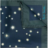 Paul Smith Lenço De Seda Com Estampa De Estrelas - Azul