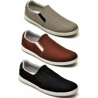 Kit 3 Pares Tênis Mac Point Casual Masculino - Masculino-Marrom+Cinza