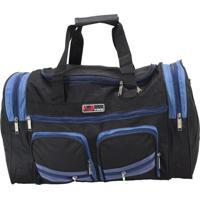 Bolsa Sacola De Viagem Média Yins Sv0222 Azul