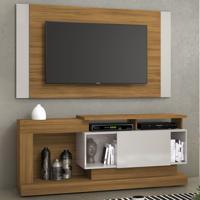 Rack Com Painel Para Tv Até 55 Polegadas Nt1065 Freijó Trend/Off White - Notavel