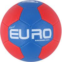 Bola De Handebol Euro New H3L Mundi - Azul/Vermelho
