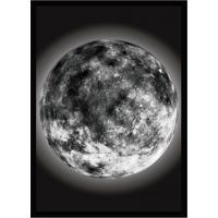 Quadro Decorativo Com Moldura The Moon Preto (33X24)