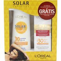 Protetor Solar Loreal Expertise Fps 30 200Ml Grátis Protetor Solar Facial Antirrugas Fps 30 50G