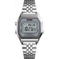 Relógio Skmei Digital Feminino - Feminino-Prata
