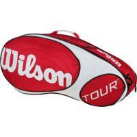 Raqueteira Wilson Esp Tour 6 - Vermelho/Branco