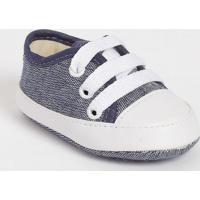 Tênis Com Amarração- Azul Marinho & Brancotico Baby