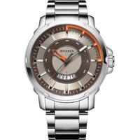 Relógio Curren Analógico 8229 Marrom