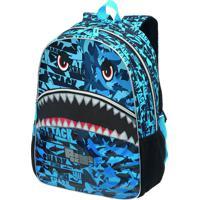 Mochila Pack Me Tubarão Shark Attack | Cor: Azul