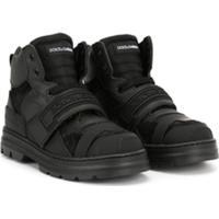 Dolce & Gabbana Kids Bota Com Velcro - Preto