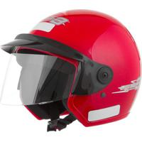 Capacete Moto Aberto Libert Three 56 Vermelho Pro Tork
