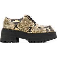 Marni Sapato Com Efeito Pele De Cobra - Neutro