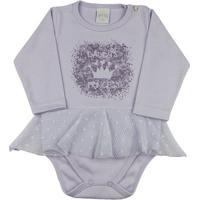 dda1b36ad ... Body Bebê Suedine E Renda Daddys Princess Ano Zero - Feminino-Lilás