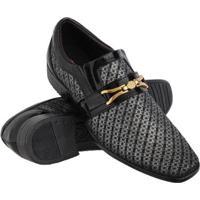 Sapato Social Euro Flex Confortável Sola Borracha Macia Leve Masculino - Masculino