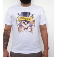 Pistolas E Rosas - Camiseta Clássica Masculina