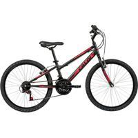 Bicicleta Infanto Juvenil Caloi Max Aro 24 - 21 Velocidades - Preto