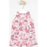 Vestido Floral - Off White & Rosagreen
