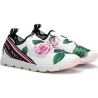Dolce & Gabbana Kids Teen Sorrento Slip-On Sneakers - Branco