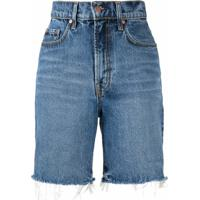 Nobody Denim Short Jeans Tyler Cintura Alta - Azul