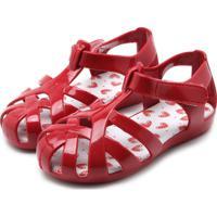 Sandália Pimpolho Menina Tiras Vermelha