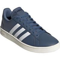 Tênis Adidas Grand Court Base Masculino - Masculino-Azul+Branco