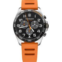 Relógio Victorinox Swiss Army Masculino Borracha Laranja - 241893