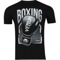 Camiseta Venum Boxing - Masculina - Preto