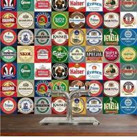 Adesivo Azulejos Rótulos De Cervejas