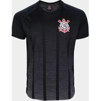 Camiseta Corinthians Pereira Masculina - Masculino-Preto