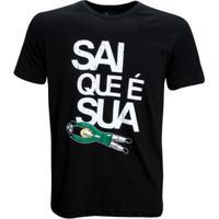 Camisa Liga Retrô Vintage Sai Que É Sua - Masculino-Preto