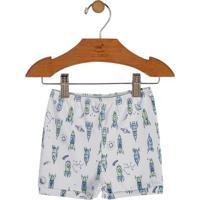 Short Foguetes- Azul Claro & Verdeup Baby - Up Kids