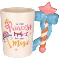 Caneca Princess- Rosa & Azul- 370Ml- Full Fitfull Fit